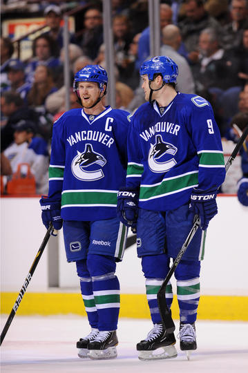 Henrik Sedin and Zack Kassian
