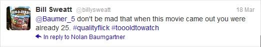 Sweatt Tweet
